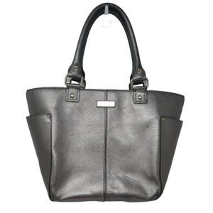 Kate Spade Pewter Silver Bucket Tote Purse